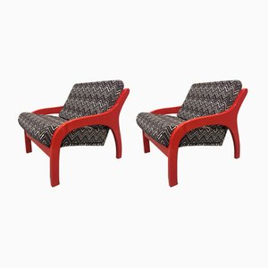 Model Vivalda Lounge Chairs by Claudio Salocchi, 1960s, Set of 2