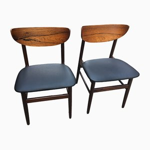 Chairs in Black Skai, 1960s, Set of 2