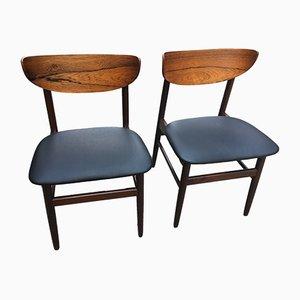 Chaises en Skaï Noir, 1960s, Set de 2