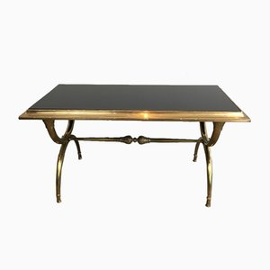 Bronze & Bass Coffee Table by Raymond Subes, 1940s