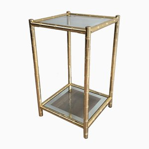 Table d'Appoint Dorées de Maison Lancel, 1970s