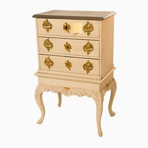 Commode à Tiroirs Rococo Gris Antique