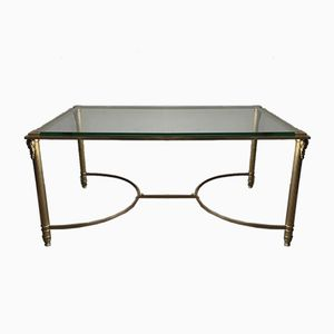 Brass and Glass Coffee Table, 1940s