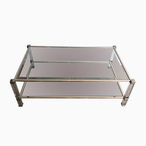 Grande Table Basse en Lucite and Chrome, 1970s