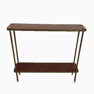 Neoclassical Mahogany and Brass Shelf, 1940s