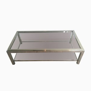 Grande Table Basse en Chrome, 1970s