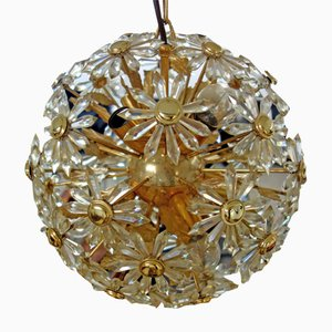 Lámpara de araña Sputnik floral, años 60