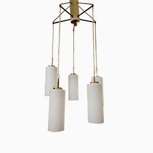 Lampe à Suspension avec 5 Abat-jour, 1970s