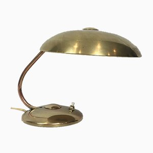 Lámpara de mesa pequeña de latón, años 30