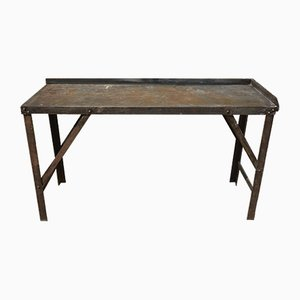 Table Industrielle Vintage en Acier, 1950s
