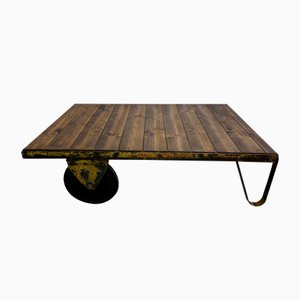 Table Basse Industrielle Vintage, 1970s