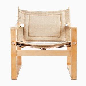 Beech Lounge Chair by Børge Jensen & Sønner for Bernstoffsminde Møbelfabrik, 1960s