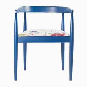 Vintage Flower Fabric & Blue Beech Armchair