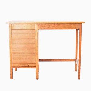 Schreibtisch mit Rolltür, 1960er