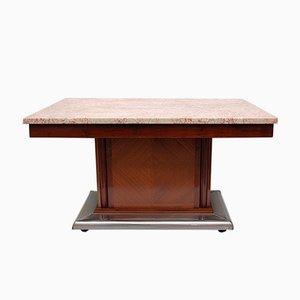 Tavolo da pranzo Art Déco in marmo e metallo