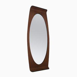 Ovaler Schichtholz Spiegel von Campo e Graffi für Home Italie, 1950er
