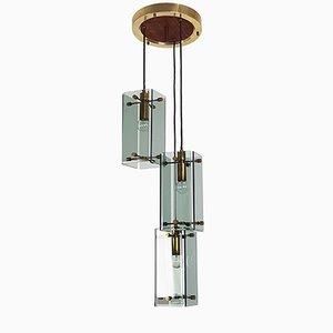 Lámpara de techo triple italiana vintage