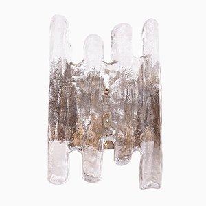 Lámpara de pared vintage de cristal hielo de Kalmar, años 60