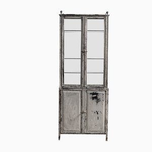 Steel Show Case with Brass Finials & Handles, 1900s