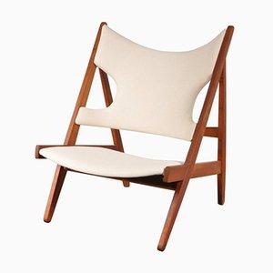 Chaise à Tricoter par Ib K de od Larsen pour Christensen & Larsen, 1950s