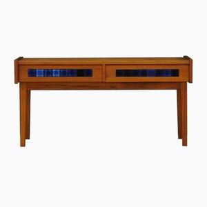 Mesa consola danesa vintage de teca