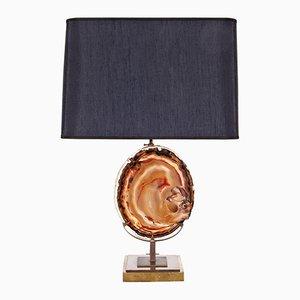 Lámpara de mesa de ágata, años 70