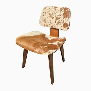 Model DCW Cow Hide Side Chair by Charles & Ray Eames for Herman Miller, 1946