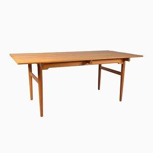 Mesa de comedor danesa de roble de Hans J. Wegner para Andreas Tuck, años 50