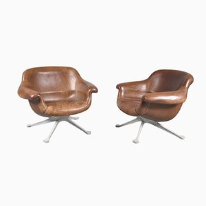 Italian No. 1110 Lounge Chairs by Angelo Mangiarotti for Cassina, 1960s, Set of 2