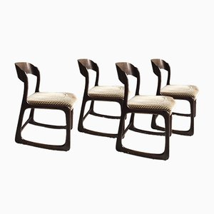 Vintage Sled Chairs from Baumann, Set of 4