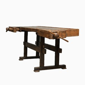 Tischler Eichenholz Werktisch, 1900er