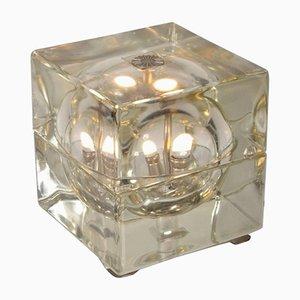 Lámpara de mesa Cubosfera italiana de Alessandro Mendini para Fidenza Vetraria, años 60