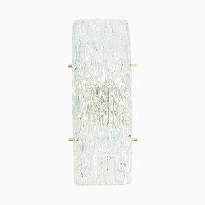 Eisglas Wandlampe von Kalmar, 1960er