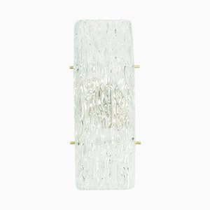 Ice Glass Wall Lamp from Kalmar, 1960s