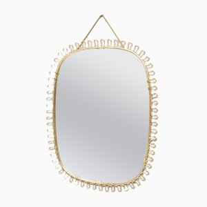 Brass Wall Mirror by Josef Frank for Svenskt Tenn, 1950s