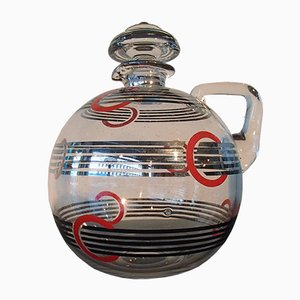 Art Deco Carafe with Geometric Pattern