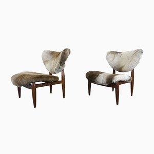 Danish Lounge Chairs, 1950s, Set of 2