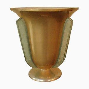 Art Deco Tischlampe mit Glaseinsätzen