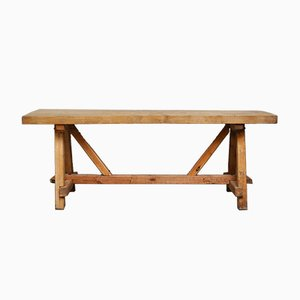 Mid-Century Pine Farmer's Worktable