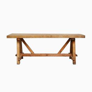 Tavolo da lavoro Mid-Century in pino