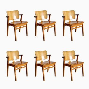 Vintage Domus Side Chairs by Ilmari Tapiovaara for Knoll International, Set of 6