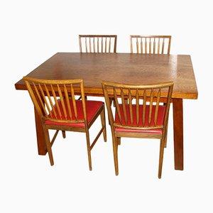 Tavolo con quattro sedie, anni '60