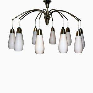 Lámpara de araña vintage de Rupert Nikoll, años 50