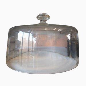 Antike Tortenglocke aus Glas