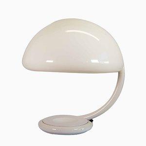 Lámpara modelo Serpiente en blanco de Elio Martinelli para Martinelli Luce, años 60