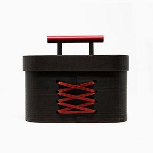 Portagioie Blackbeauty in cipresso Hinoki di Sonia Pedrazzini per Hands On Design