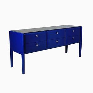 Mid-Century Cobalt Blue Lacquered Credenza