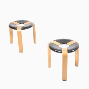 Mid-Century Danish Stools by Magnus Olesen, 1960s, Set of 3
