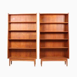 Danish Teak Bookshelves from Nexø, 1960s, Set of 2