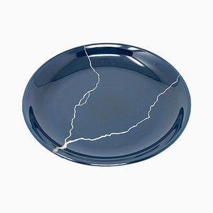 Tsukroi 2 Teller aus lackiertem Urushi Glas in Blau von Kazuyo Komoda für Hands On Design